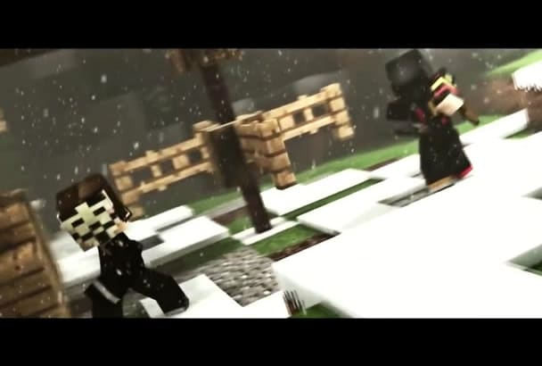 create a 3D Minecraft intro