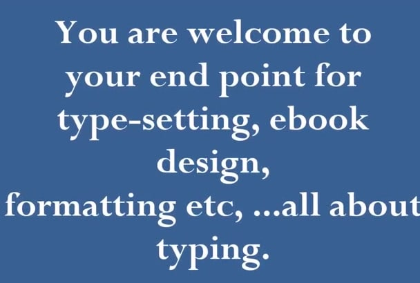 typeset, design and create an ebook for you