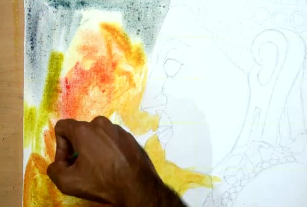 create an illustration painting