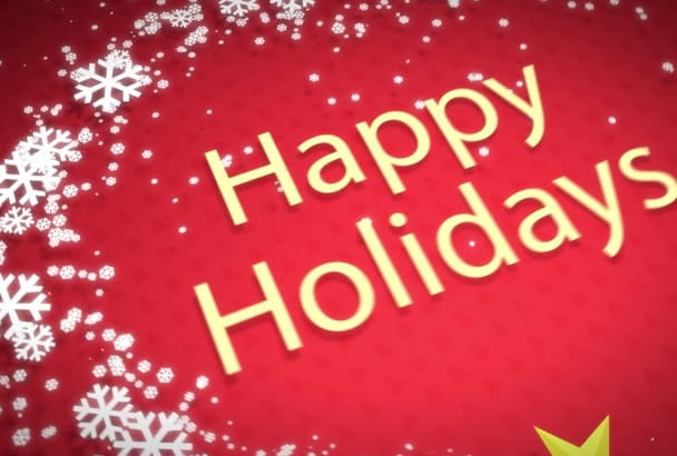 customize this high quality Holiday Greetings video