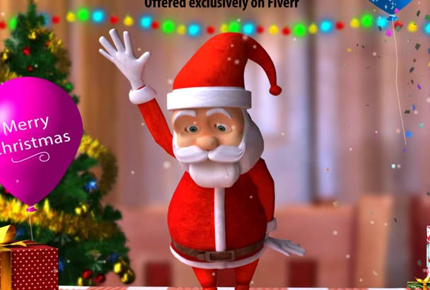 create AWESOME Dancing Santa Animation FullHd 1080