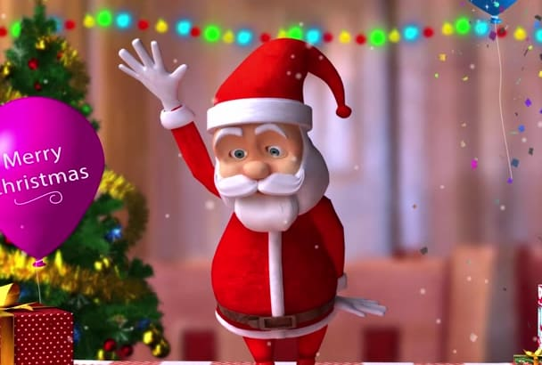funny christmas video with dancing santa