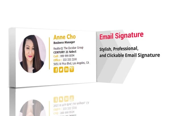 design very attractive and professional email signature