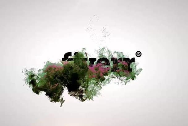 make this particles logo reveal video intro