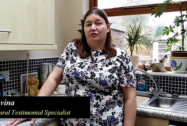 produce a natural realistic and believable testimonial