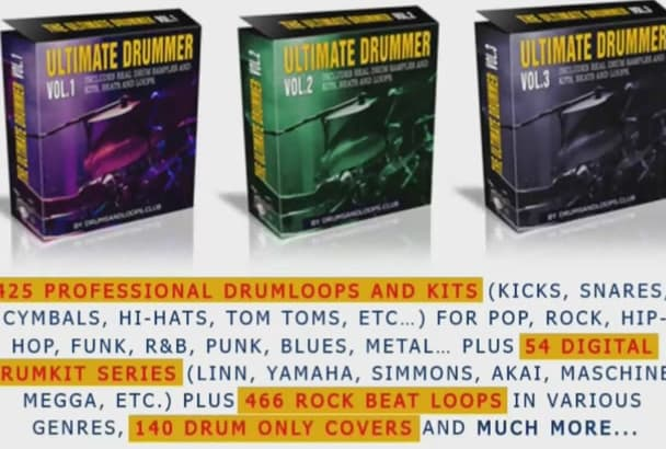 give you 500 drum loops and beats with complete kits and loops