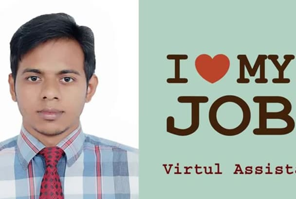 be your Virtual Assistant also do data entry