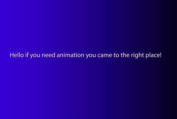 make you a nice looking animation
