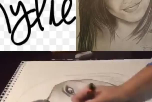 draw a small portrait and mail or email it