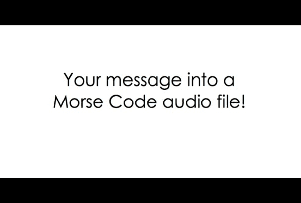 turn your message into morse code
