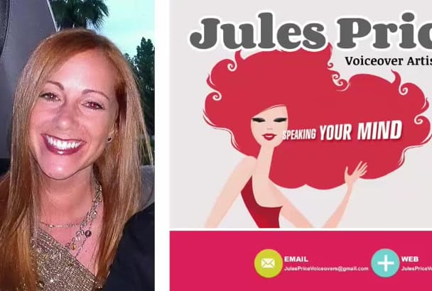 record a warm, engaging female VOICEOVER for you