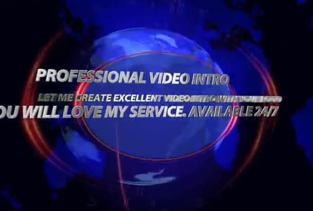 make high standard animated video intro with your logo