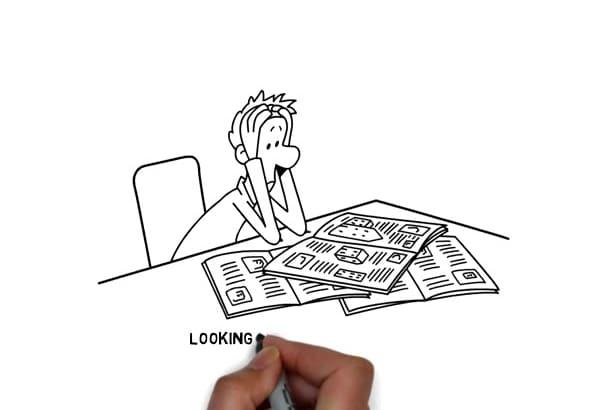 make doodle whiteboard video