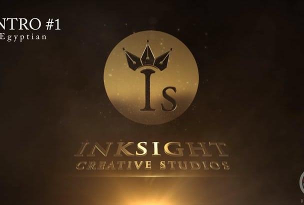 create amazing 3D cinematic logo intro
