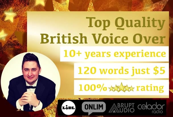 record you a VOICEOVER British Male