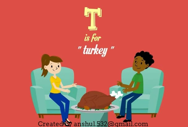create animated thanksgiving day greeting video in 3 hours