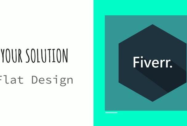design an ASTONISHING flat logo for you