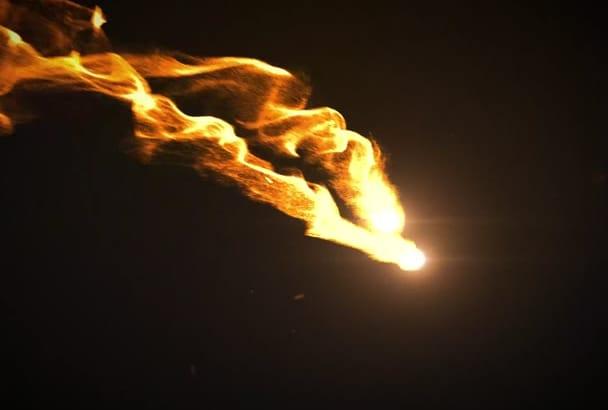 create fire logo opener