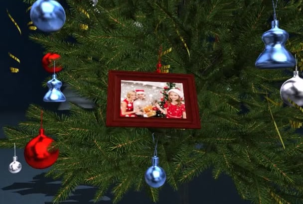create HD top quality Christmas intro or video Greeting