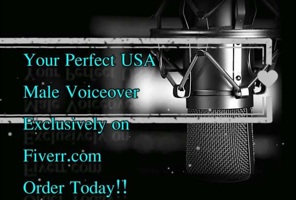 do a USA Male Voiceover