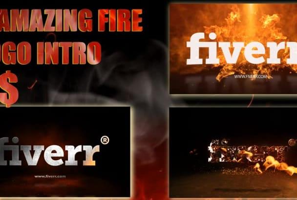 make 3 amazing fire logo intro