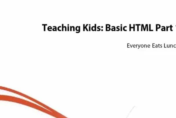 teach you Basic HTML for Kids Newbie