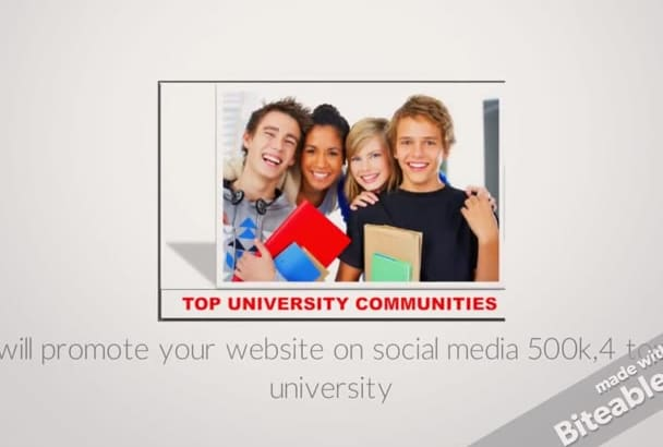 promote your website to fast responding COLLEGE Students