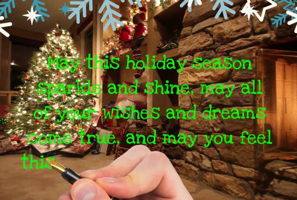 produce an amazing  CHRISTMAS video greeting
