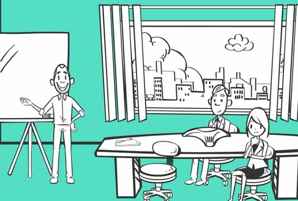 create a animated Whiteboard video in Spanish