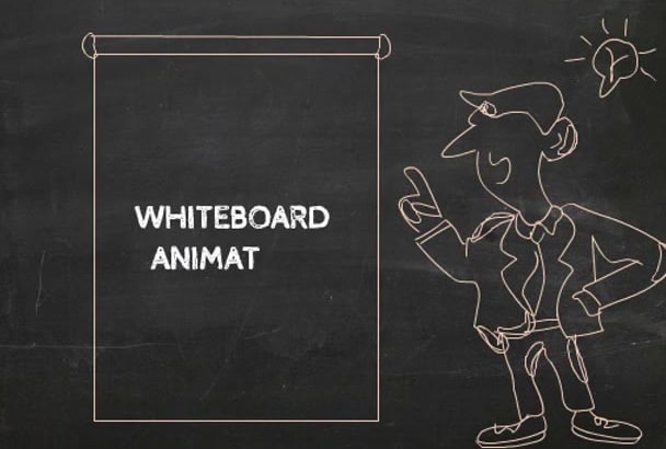 blackboard style typography explainer animation video