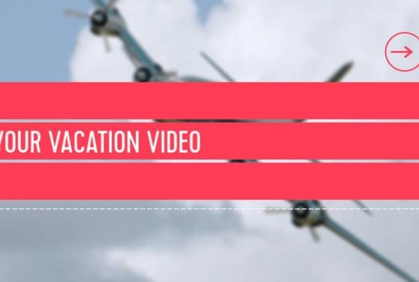 create travel videos slideshow