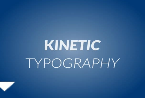 do an eye catching kinetic typography video in 24hrs or less