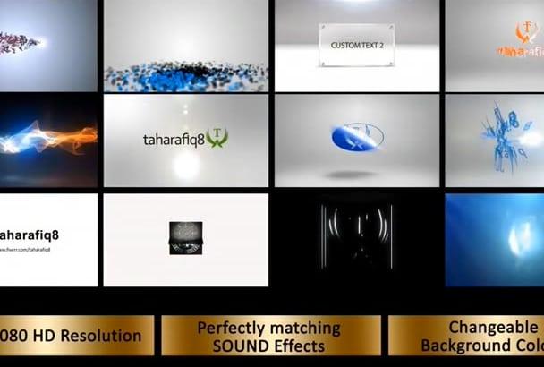 do 3 Video Intros for 3 Logo