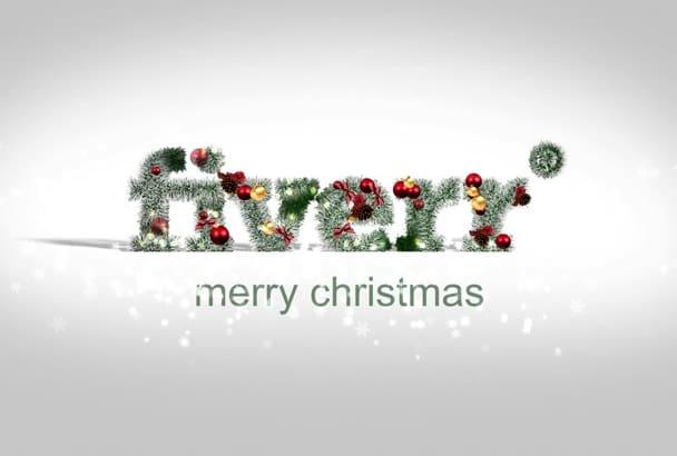 do Christmas textured logo intro