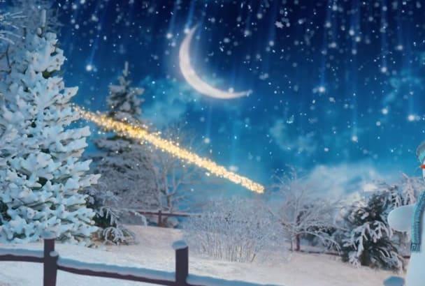 design Christmas Video advertisement