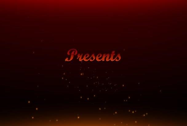 make a cinematic Katana Sword intro video
