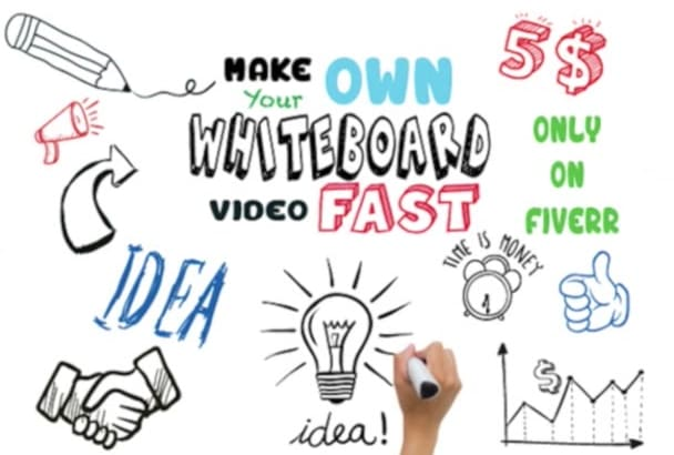 create WhiteBoard Animation Hand Drawn explainer video