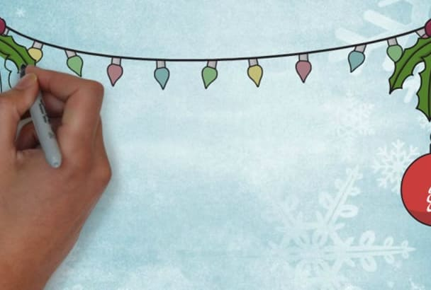 make this awesome animated Christmas greetings card