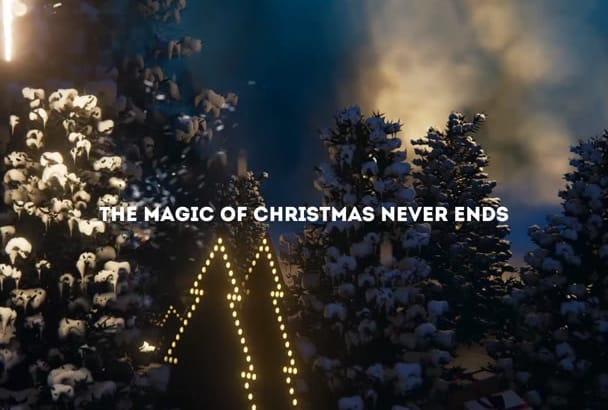 make wonderful Christmas holiday animation intro