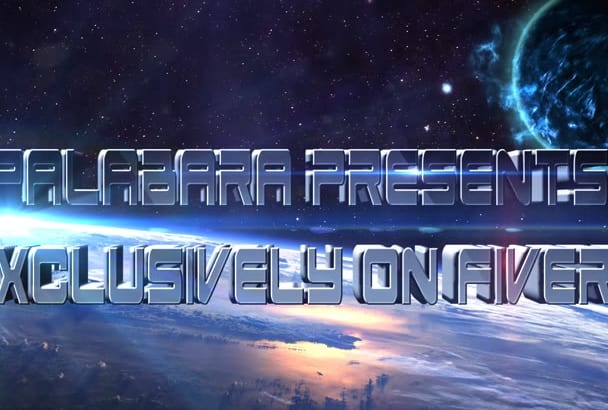 make SPACE 3D  cinematic title outer space intro video