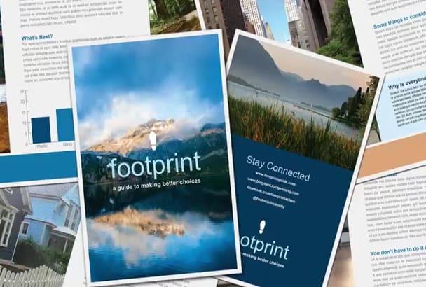 teach you how to create a brochure