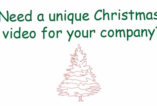 create a short Christmas Greetings video