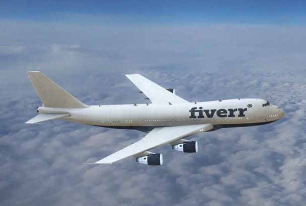 put your logo on a 3D animated plane