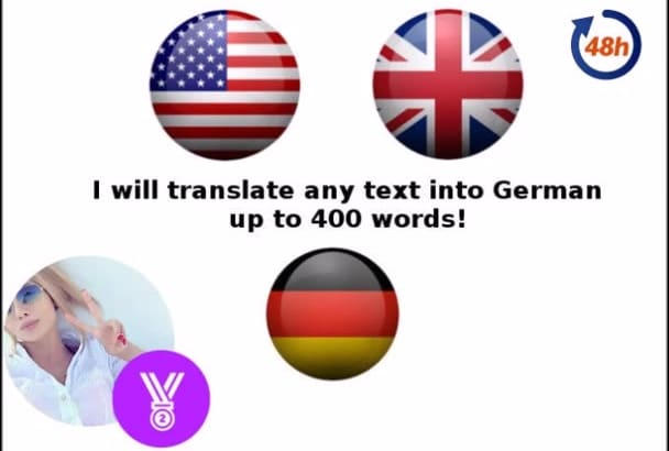 translate English to German in 48 hours