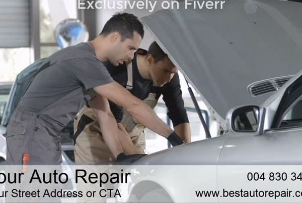 produce a Professional Video for Auto Repair Shops