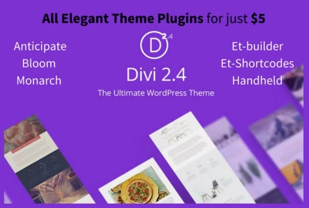 give you all Elegant Themes Plugins