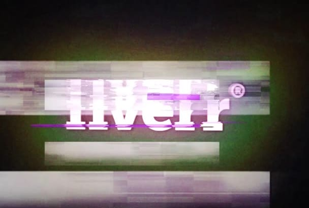 create awesome glitch video logo or text intro