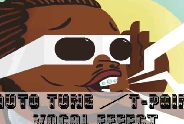 create AutoTune effect on your voice