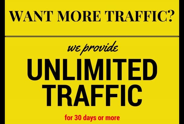 send unlimited real traffic and visitors to your website for 30 days