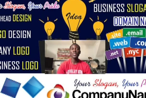 brainstorm 25 Business names, Slogans,Domain Name, with LOGO